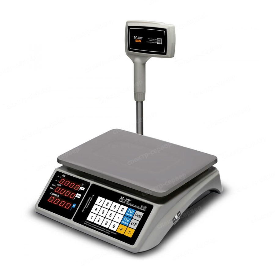 """Торговые настольные весы M-ER 328 ACPX-15.2 """"TOUCH-M"""" LED RS232 и USB"""