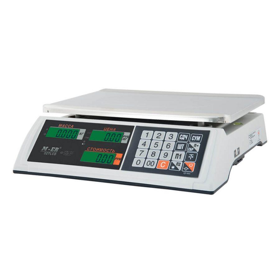 """Торговые настольные весы M-ER 327 AC-32.5 """"Ceed"""" LCD Белые - Гарантия производителя!"""