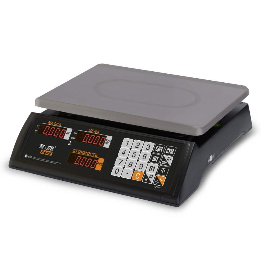"""Торговые настольные весы M-ER 327 AC-32.5 """"Ceed"""" LED Черные - Гарантия производителя!"""