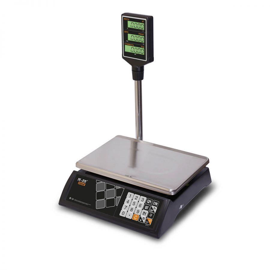 """Торговые настольные весы M-ER 327 ACP-32.5 """"Ceed"""" LCD Черные - Гарантия производителя!"""
