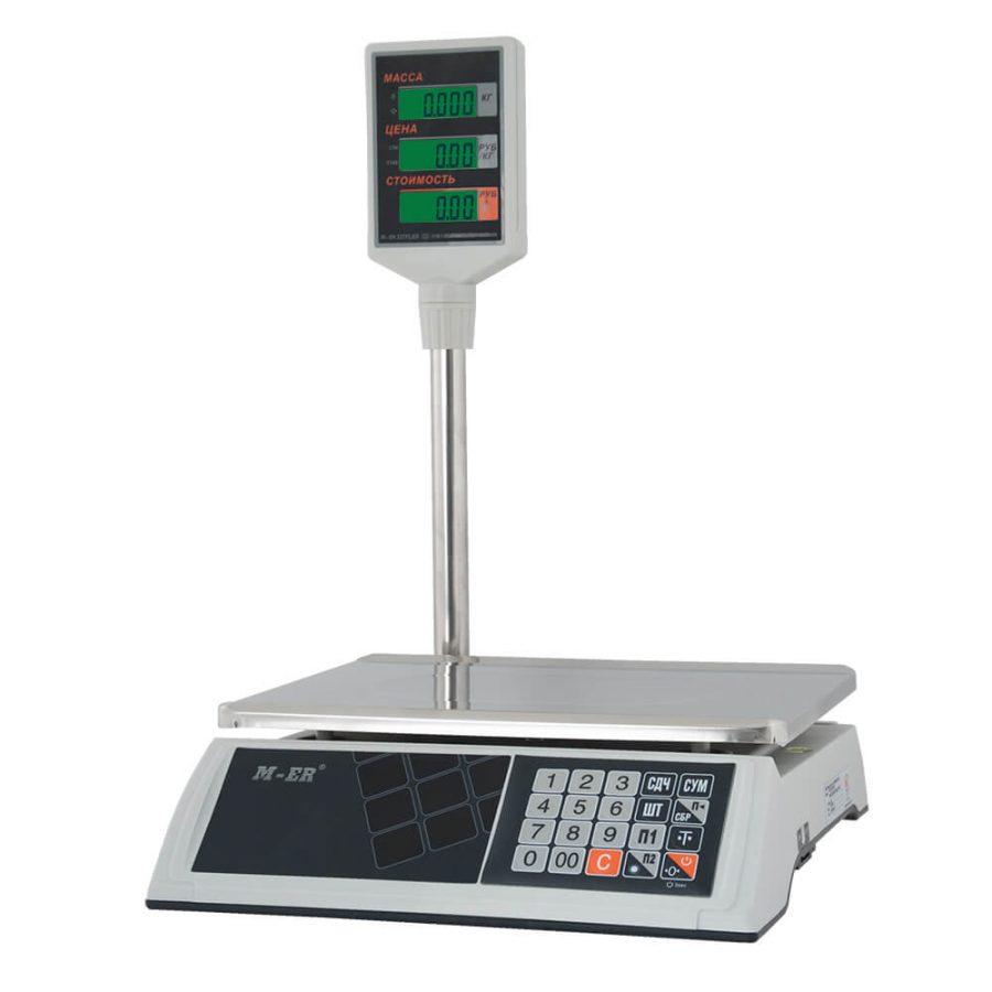"""Торговые настольные весы M-ER 327 ACP-32.5 """"Ceed"""" LCD Белые - Гарантия производителя!"""