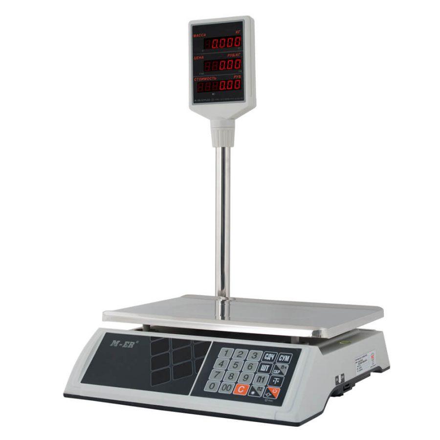 """Торговые настольные весы M-ER 327 ACP-32.5 """"Ceed"""" LED Белые - Гарантия производителя!"""