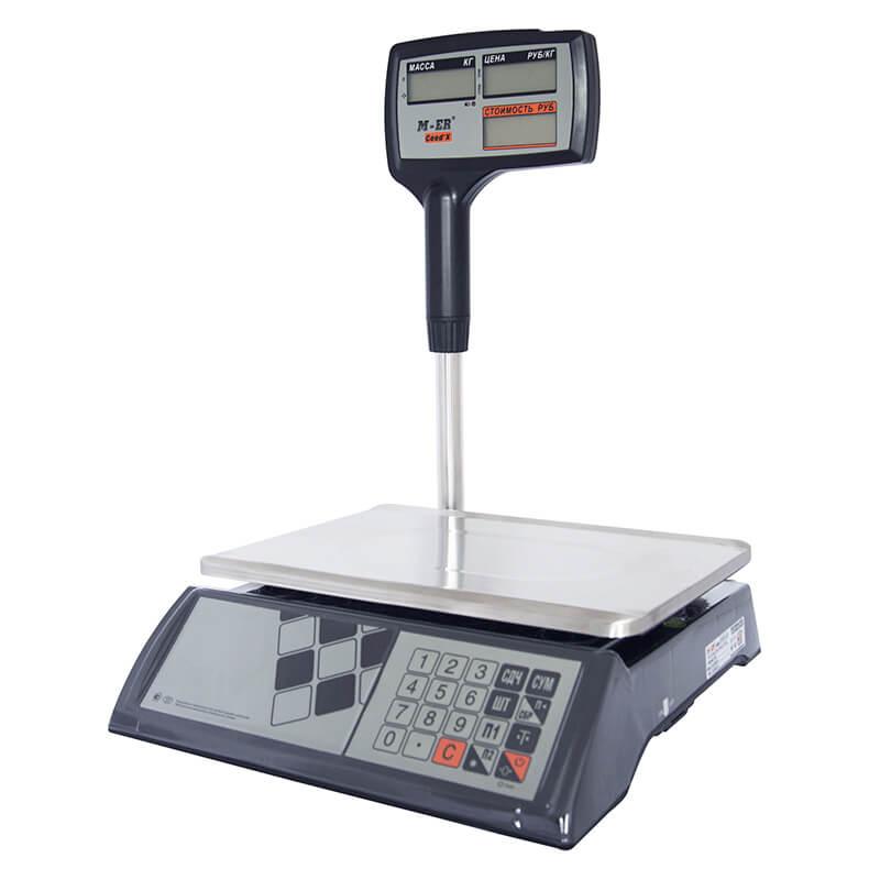 """Торговые настольные весы M-ER 327 ACPX-32.5 """"Ceed'X"""" LCD Черные - Гарантия производителя!"""