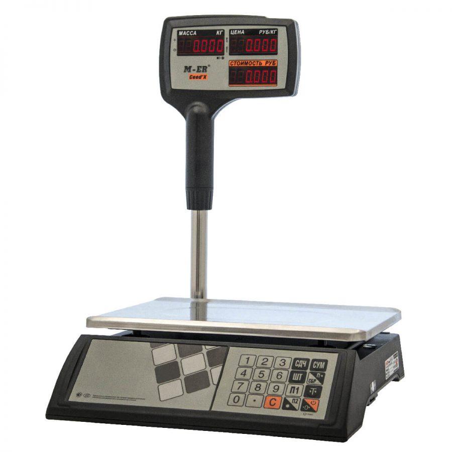 """Торговые настольные весы M-ER 327 ACPX-32.5 """"Ceed'X"""" LED Черные - Гарантия производителя!"""
