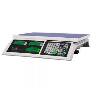 """Торговые настольные весы M-ER 326 AC-32.5 """"Slim"""" LCD Белые - Гарантия производителя!"""