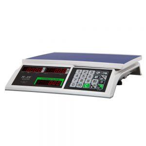 """Торговые настольные весы M-ER 326 AC-32.5 """"Slim"""" LED Белые - Гарантия производителя!"""
