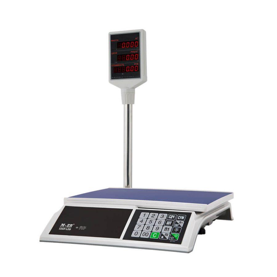 """Торговые настольные весы M-ER 326 ACP-32.5 """"Slim"""" LED Белые - Гарантия производителя!"""