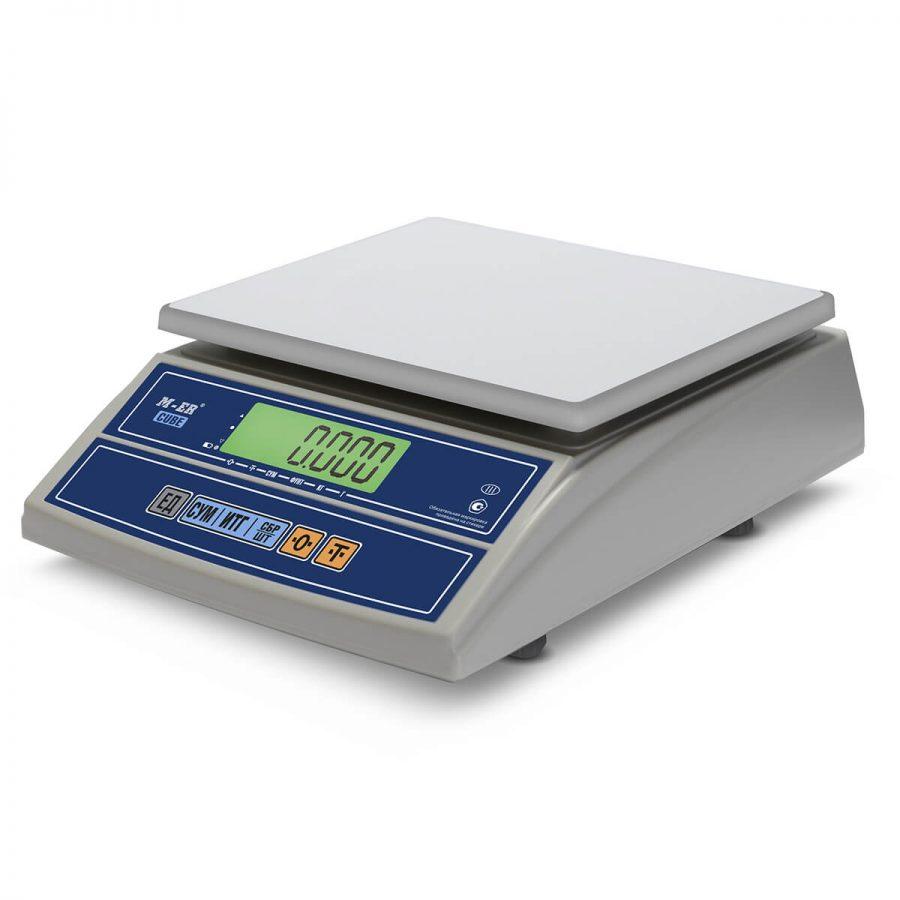 """Фасовочные настольные весы M-ER 326 AFL-32.5 """"Cube"""" c USB-COM LCD - Гарантия производителя!"""