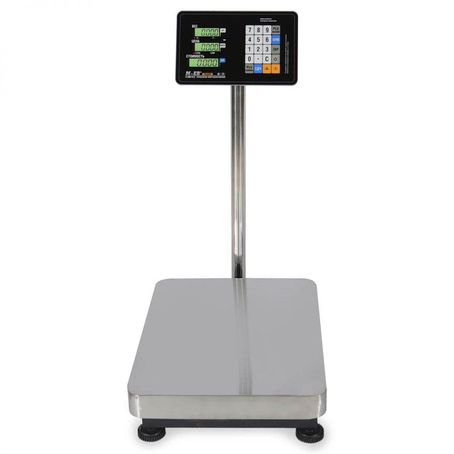 """Торговые напольные весы M-ER 333 ACP-300.100 """"TRADER"""" с расч. стоимости LCD - Гарантия производителя!"""