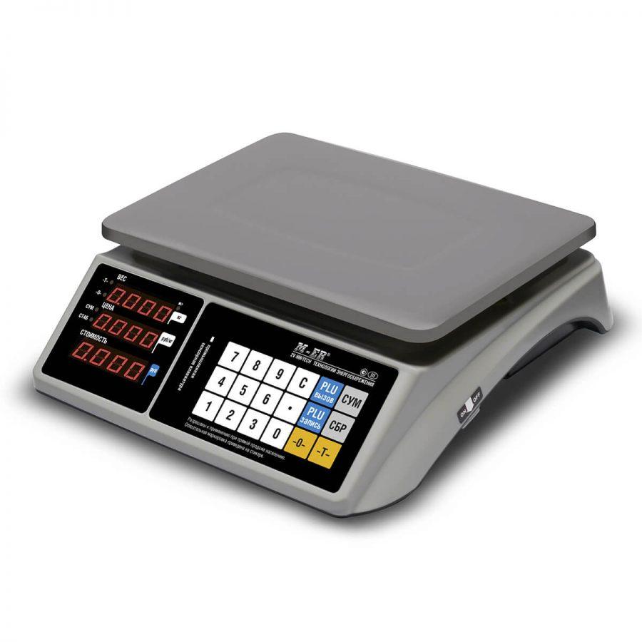 """Торговые настольные весы M-ER 328 AC-32.5 """"TOUCH-M"""" LED RS232 и USB - Гарантия производителя!"""