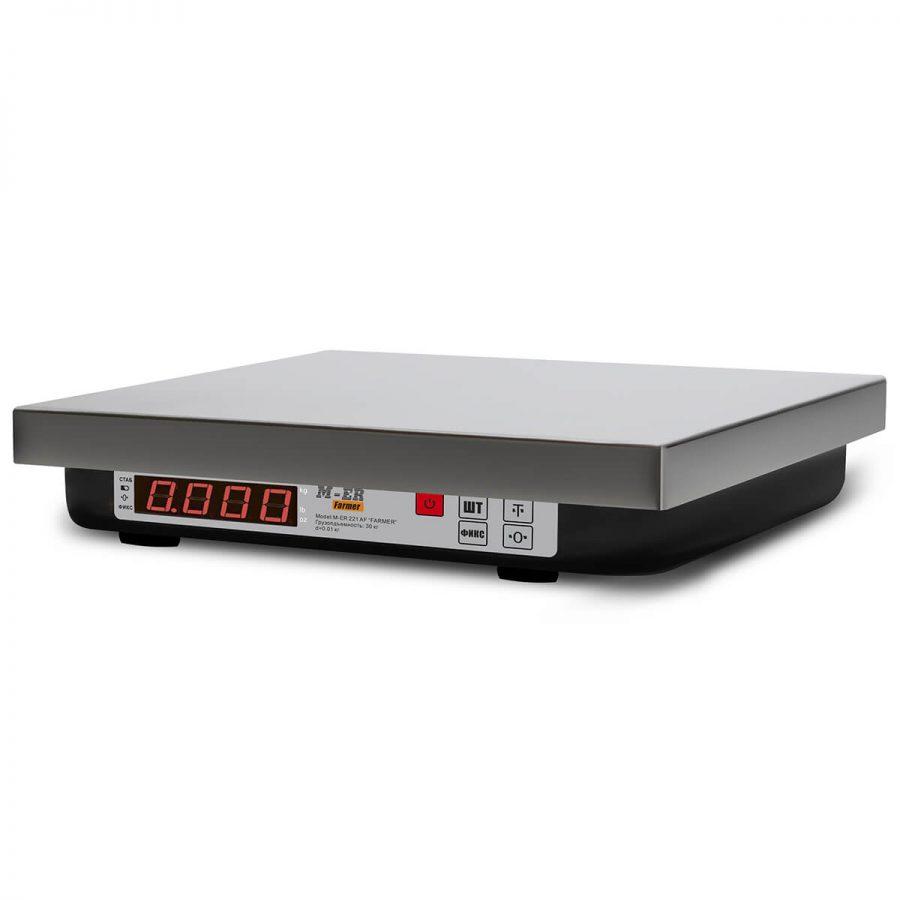 """Фасовочные настольные весы M-ER 221 F-15.2 """"Install"""" RS-232 и USB - Гарантия производителя!"""