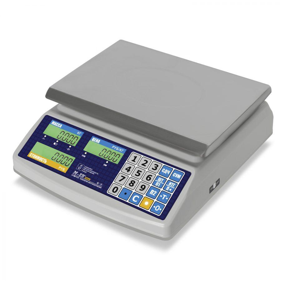 """Торговые настольные весы M-ER 329 AC-32.5 IP68 """"Fisher""""  LСD - Гарантия производителя!"""